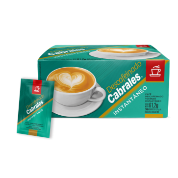 Café Cabrales Instantáneo Descafeinado x 36s.
