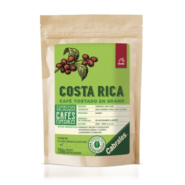 Café Tostado en Grano COSECHAS DEL MUNDO ® COSTA RICA x 250g