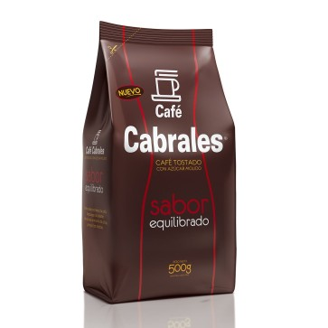 Café Molido Tostado con azúcar Sabor Equilibrado x 500g.