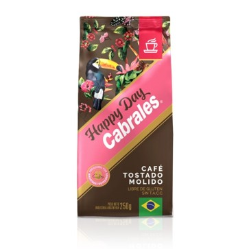 Café Molido Tostado Happy Day x 250g.