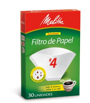 Filtros Melitta N°4 x 30u.