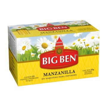 Té de Manzanilla Big Ben x 25 saquitos.