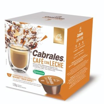 Cabrales Cápsulas Café con Leche 12x10g