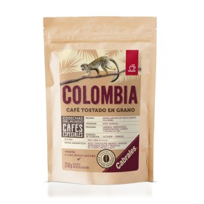 Café Tostado en Grano COSECHAS DEL MUNDO ® COLOMBIA x 250g