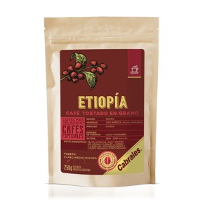 Café Tostado en Grano COSECHAS DEL MUNDO ® ETIOPÍA x 250g