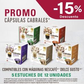 Promo Cápsulas Cabrales x 5 estuches
